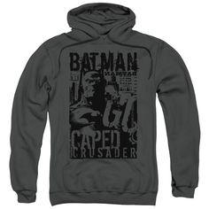 Batman - Caped Crusader Adult Pull Over Hoodie