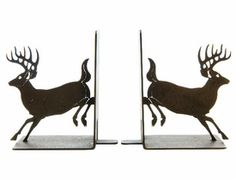 Whitetail Deer Metal Bookends