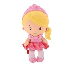 Fisher-Price Princess Chime Doll, Baby Soft Cuddly Doll with Sounds, 6 Months Plus Fisher Price Baby Toys, Pull Along Toys, Baby Sense, Activity Toys, 1st Birthday Girls, Baby Grows, Plush Dolls, Doll Toys, Toddler Toys