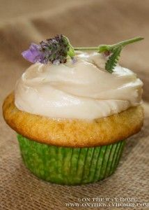 ... really wanting to make honey lavender cake. Lavender-honey Cupcakes