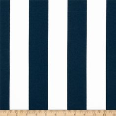 Premier Prints Indoor/Outdoor Stripe Oxford/Blue/White from @fabricdotcom  Premier Prints outdoor fabrics are screen printed on spun polyester and have a stain and water resistant finish. These fabrics withstand direct sunlight for up to 1000 hours making them both durable and versatile, perfect for outdoor settings and indoor living in sunny rooms, great family friendly fabric! Create decorative toss pillows, chair pads, placemats, tote bags and much more. To maintain the life of the…