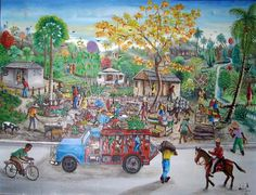 Haitian art. Actually very realistic.