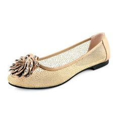 Leatherette Upper Flat Heel FlatsSandals With Rhinestone Party/ Evening Shoes