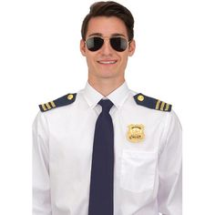 Police Costume Set- Sunglasses, Epaulets, & Badge