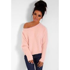 ♡ Pink fluffy jumper sourced by summerocha.polyvore