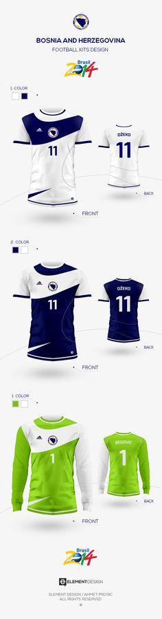 BOSNIA AND HERZEGOVINA // Football Kit Design 2 on Behance