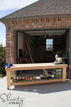 Looking for workbench ideas? Here are 5 DIY workbench plans perfect for a small workshop. Easy Woodworking Projects, Woodworking Techniques, Woodworking Shop, Woodworking Plans, Wood Projects, Woodworking Apron, Woodworking Chisels, Woodworking Supplies, Woodworking Classes