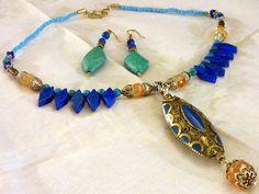 howlite blu, turchese, argento