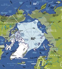 Map of the Arctic Ancient Aliens, Ancient History, China Map, I Love School, Polar Animals, Country Maps, World Geography, East Germany, Faroe Islands