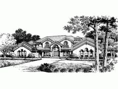 Italianate House Plan with 5826 Square Feet and 5 Bedrooms(s) from Dream Home Source | House Plan Code DHSW43345