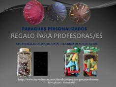 regalos para profesores con mucha emoción Paraguas personalizados Tarros de cristal tallados a mano, con el nombre de los alumnos y otros secretos, como iluminación por la noche, o que los alumnos , le digan en secreto que ha significado el profesor para ellos. Regalos con corazón
