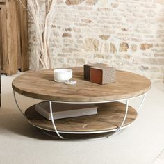 Coffee Table with Storage Hokku Designs Base Finish: Natural Round Wooden Coffee Table, Mosaic Coffee Table, Pine Coffee Table, Reclaimed Wood Coffee Table, Coffee Table With Storage, Coffee Table Design, Contemporary Coffee Table, Modern Coffee Tables, Zweisitzer Sofa