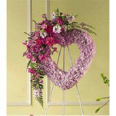 Funerals Flower for Mother's | Open Heart Funeral Arrangement