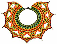 Pectoral Necklace with Chaquiras