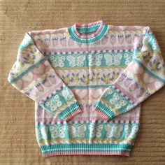 Vintage pastel sweater by Heartworks