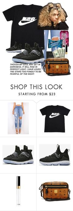 """Untitled #345"" by bxbysnoop ❤ liked on Polyvore featuring NIKE, Chanel and MCM"