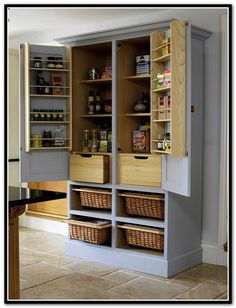 Image For Freestanding Pantry For The Kitchen