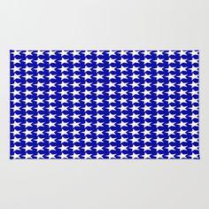 Blue white #stars #rug