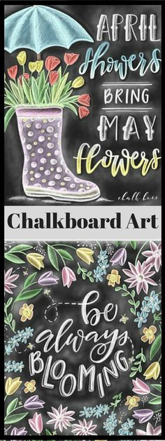 Love these chalkboard art prints. They would look cute hanging on the wall. #chalkboardart #sringdecor #affiliate #etsy