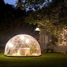 Garden Igloo Four Seasons 2.0. Mehrzweckkuppel für den Garten zu jeder Jahreszeit. #design3000 #gardenigloo