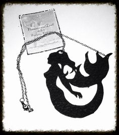 Up Cycled Leather Mermaid Necklace by FloranceandLeah on Etsy, $20.00