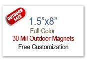 "1.5x8 Custom Magnets | 1.5"" x 8"" Refrigerator Magnets 