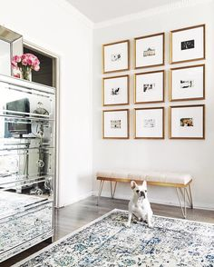 Gallery Wall Grid - Front entryway @margoandme