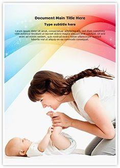 Animated pediatrics medical powerpoint template pediatrics baby care ms word template is one of the best ms word templates by editabletemplates toneelgroepblik Image collections