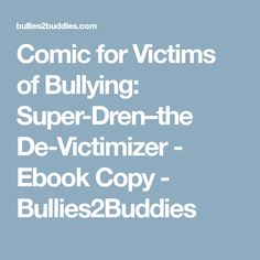 Skillstreaming in the elementary school lesson plans and comic for victims of bullying super drenthe de victimizer ebook copy fandeluxe Choice Image