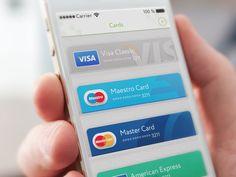 Credit cards on wallet by Gleb Kuznetsov