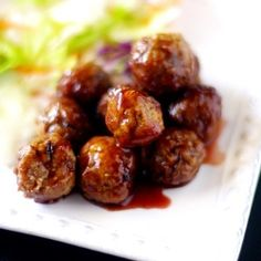 Sweet Slow Cooker Meatballs recipe