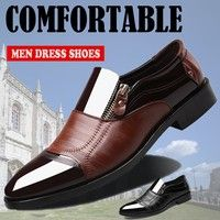 Vintage Design Men S Casual Leather Shoes Pointed Toe Shoes Black Brown Wish Mens Casual Leather Shoes Dress Shoes Men Pointed Toe Shoes