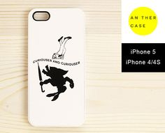 Quote iPhone 5 case, iPhone 4 case, iPhone 4S case - Alice in Wonderland - black and white iphone cover