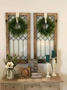 """Use these as """"shutters"""" beside my mirrored window!! I love it!"""
