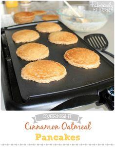 easy breakfast overnight oatmeal pancakes