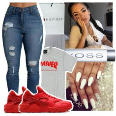A fashion look from December 2016 featuring NIKE shoes and Tommy Hilfiger handbags. Browse and shop related looks.