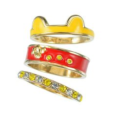 Winnie-the-Pooh 3 Piece Ring Set Disney Rings, Disney Jewelry, Pandora Rings, Pandora Jewelry, Cute Disney, Disney Style, Cute Jewelry, Jewelry Accessories, Jewelry Box