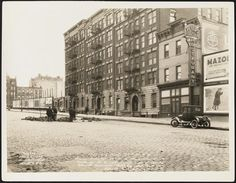 #303 - 315 West 96th St. N.Y.C. From N.E. Cor. 96th St. & Riverside Drive looking S.E. at South side of Block between Riverside Drive and West End Ave.