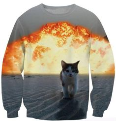 >> Click to Buy << Spring Autumn Crewneck Fashion Clothing 3D Printed Sweats explosion Cat Sexy Long Sleeve Sweatshrit Pullover #Affiliate
