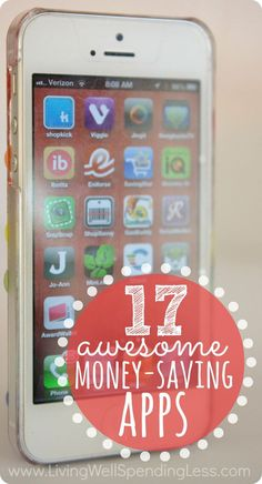 17 Awesome Money-Saving Apps. The 17 best smart phone apps for earning rewards, organizing your finances, and saving on groceries, gas, retail, & more. This is so helpful!