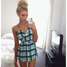 Gabby Epstein Wears our Kansas Playsuit! Shop online at www.tweettweetfashion.com.au