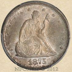 1875-S Seated Liberty Twenty Cent MS65 PCGS, obverse
