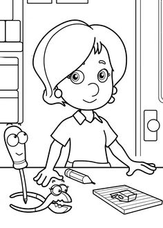 Handy Manny, Kelly coloring pages for kids printable free