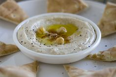 Restaurant style Hummus (that creamy texture is the product of a process, not an ingredient!)