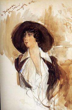 Portrait of Donna Franca Florio, 1912 - Giovanni Boldini Giovanni Boldini, Klimt, Portraits, Art Database, Art For Art Sake, Italian Artist, Vintage Artwork, Henri Matisse, Oeuvre D'art