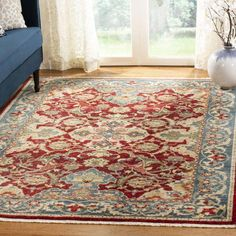 World Menagerie Land Red/Blue Area Rug Rug Size: Runner x Area Rugs For Sale, Rug Sale, Brown And Blue Living Room, Rustic Bedroom Design, Traditional Area Rugs, Blue Area, Rugs In Living Room, Carpet Runner, Beige Area Rugs