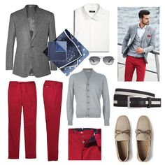Seeing Red: The Pop Color Pants You Need Now! Trust me on this: red is the color that should be making an appearance south of your waistline this spring.#FASHIONABLE #MEN STYLE # PCOKETSQUARE