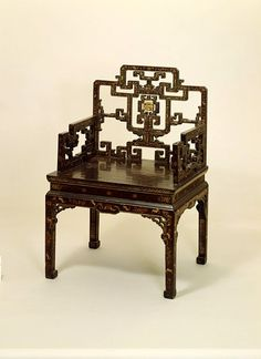 Armchair Place of origin: China (made) Date: ca. (made) Artist/Maker: unknown (production) Materials and Techniques: Wood, lacquered and gilt Asian Furniture, Chinese Furniture, Oriental Furniture, Antique Furniture, Modern Furniture, Furniture Design, Asian Interior Design, Japanese Interior, Art Deco