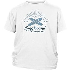 West Coast Longboard Surf Riders - Surf T-Shirt Collection - Youth