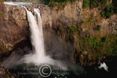 Limited Edition Nature Art Print. Snoqualmie Evening. Landscape photograph:  Waterfalls, Snoqualmie, Snoqualmie Falls, Washington, Seattle, Waterfalls